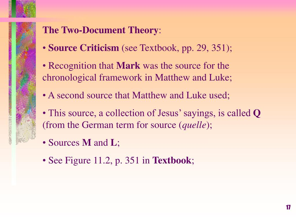 The Two-Document Theory