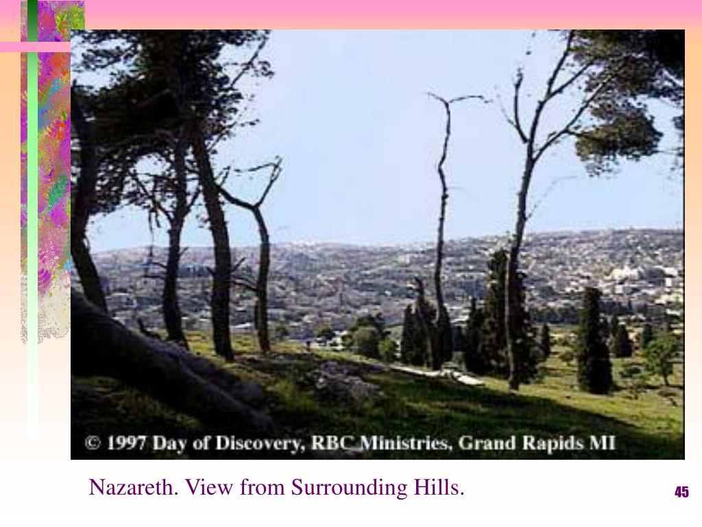 Nazareth. View from Surrounding Hills.
