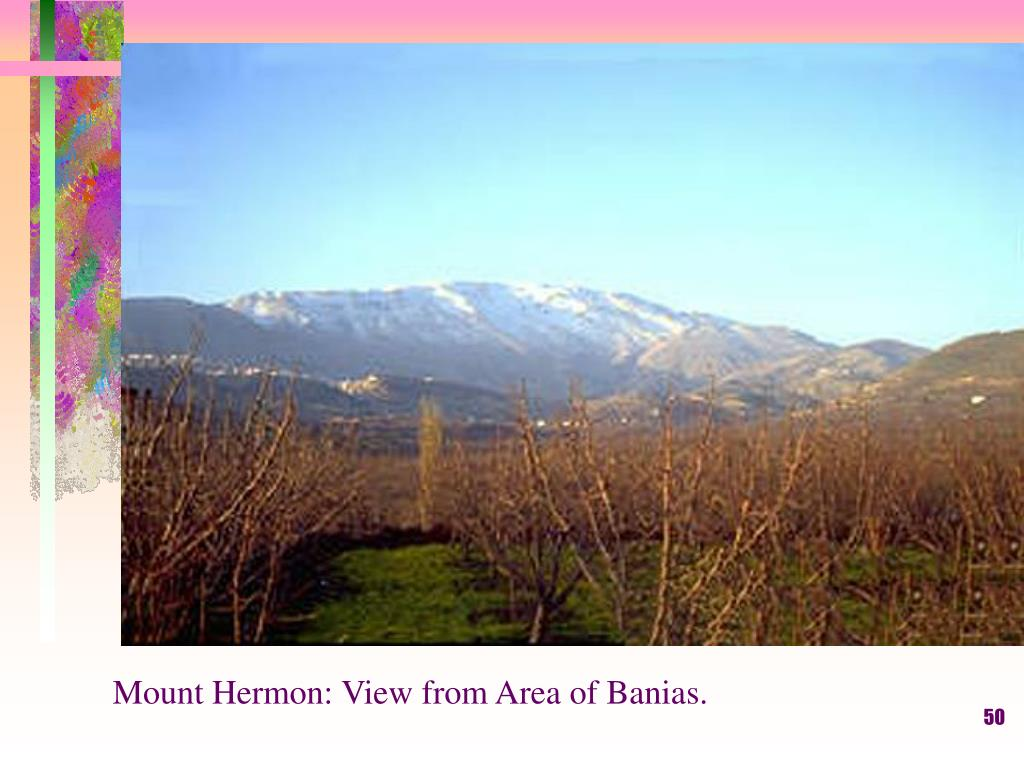 Mount Hermon: View from Area of Banias.