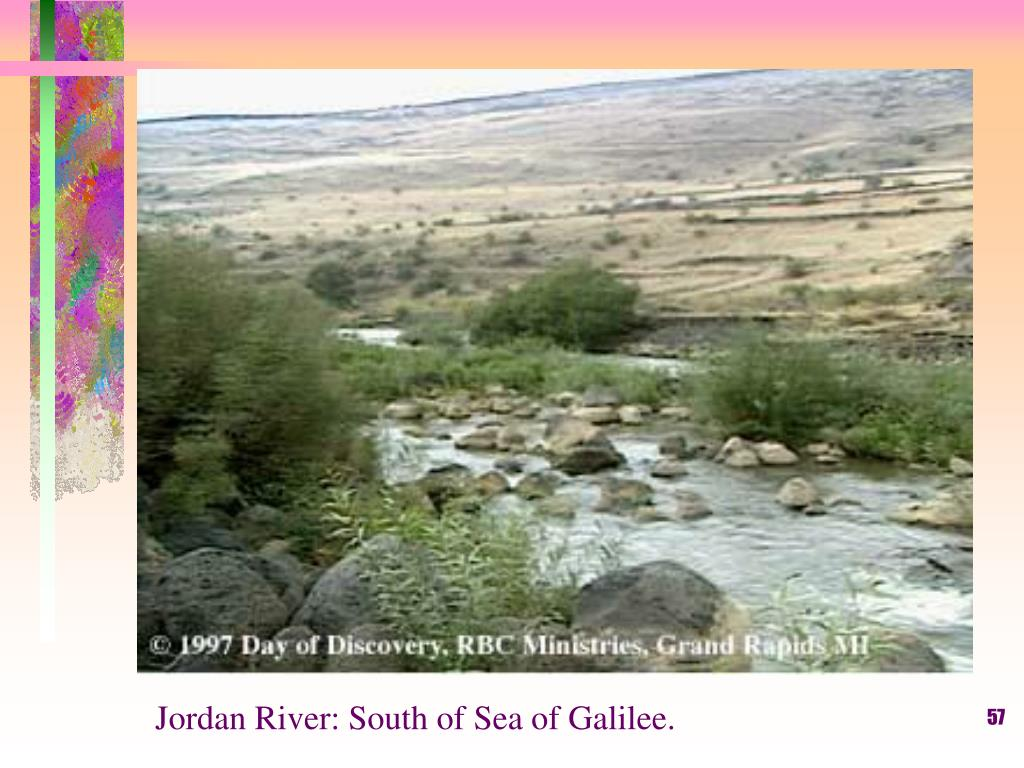 Jordan River: South of Sea of Galilee.
