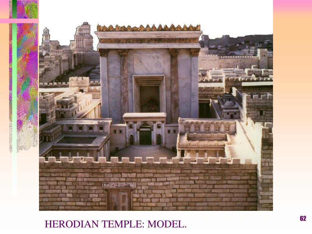 HERODIAN TEMPLE: MODEL.