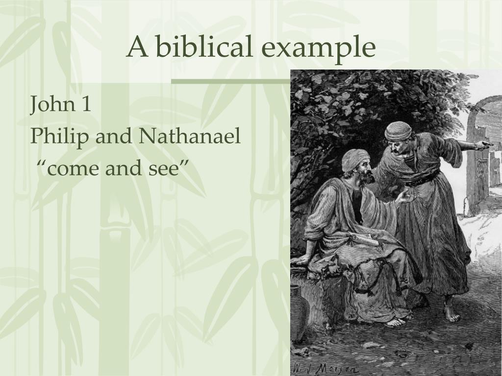 A biblical example