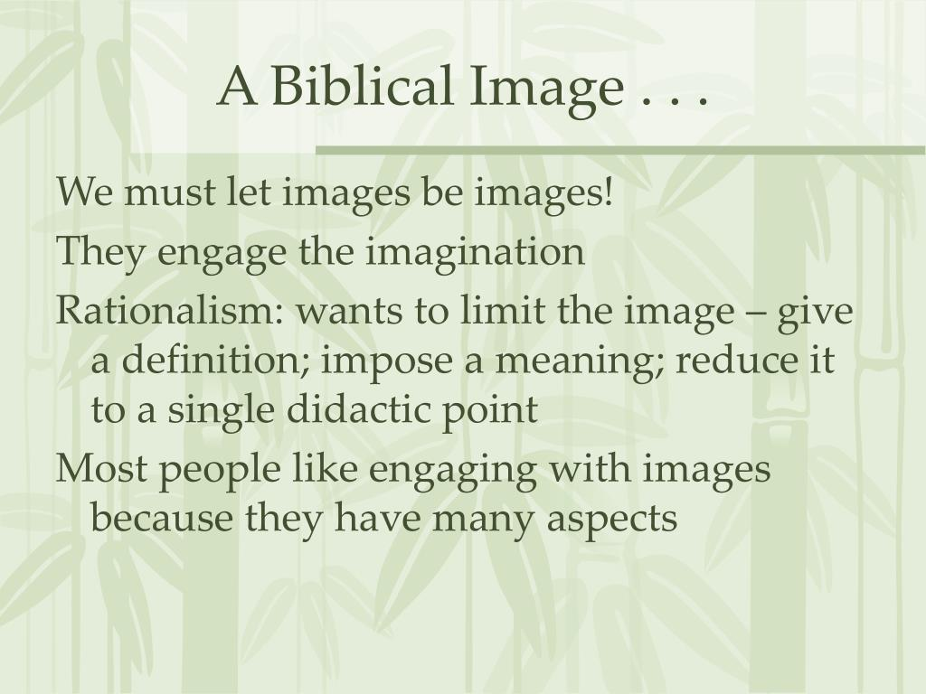 A Biblical Image . . .