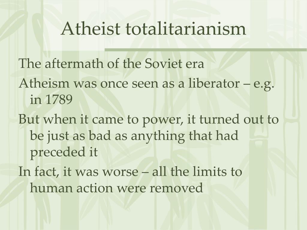 Atheist totalitarianism