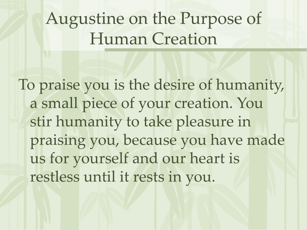 Augustine on the Purpose of Human Creation
