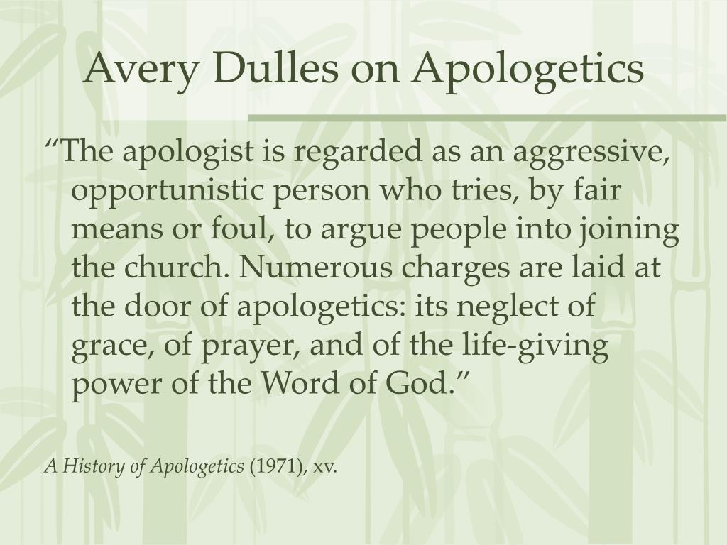 Avery Dulles on Apologetics