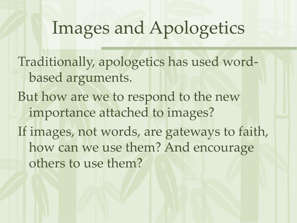 Images and Apologetics