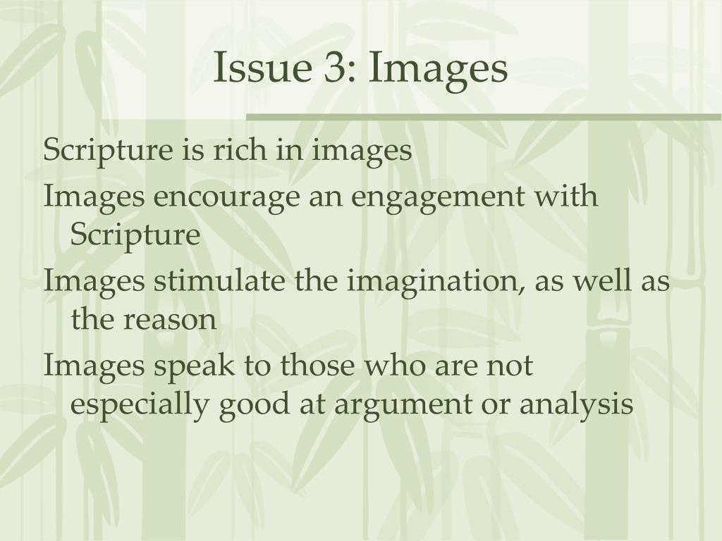 Issue 3: Images
