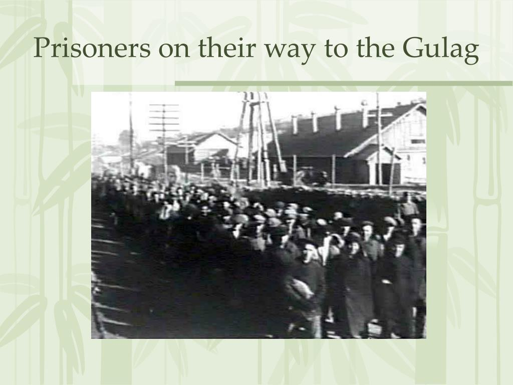 Prisoners on their way to the Gulag