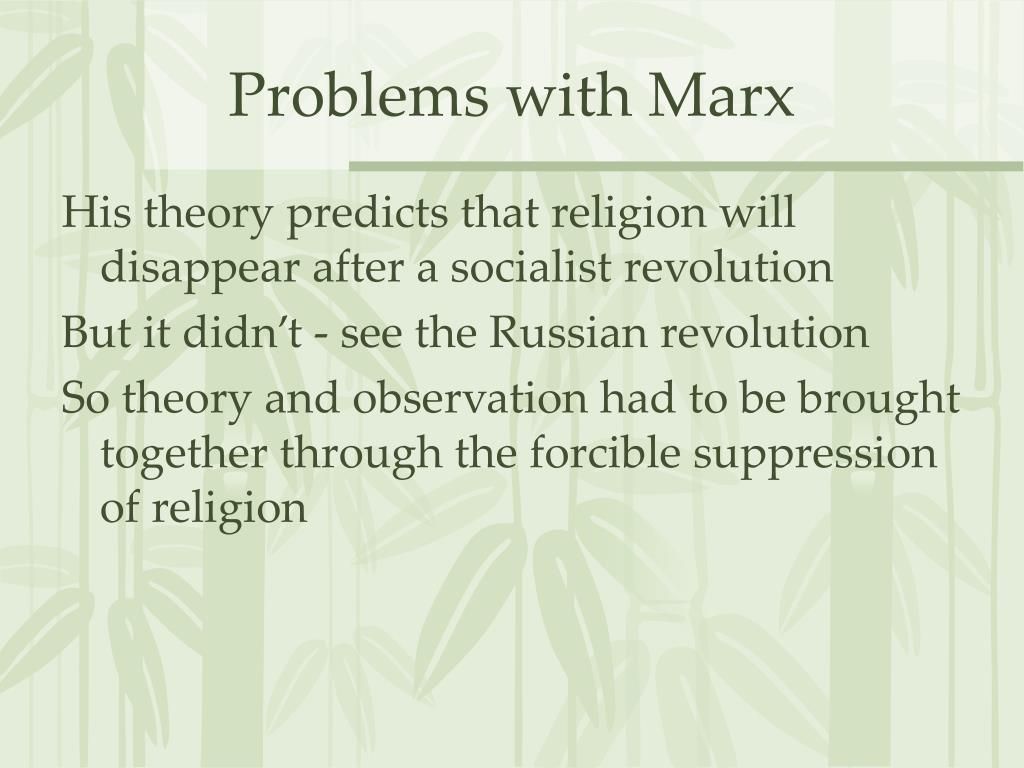 Problems with Marx