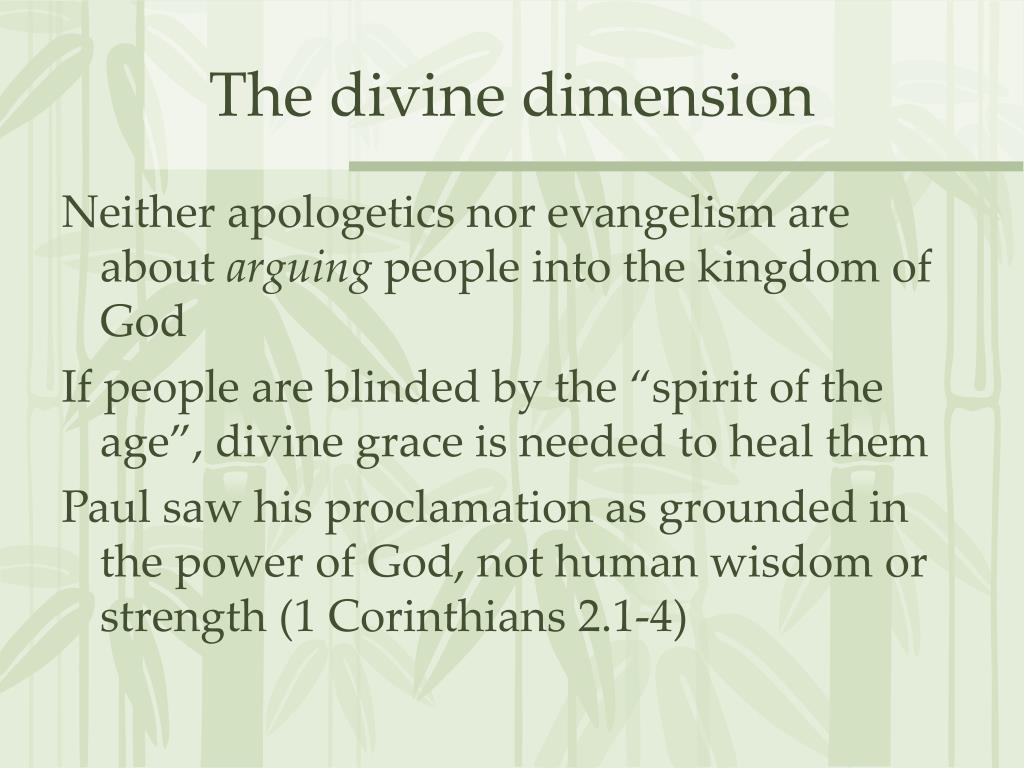 The divine dimension