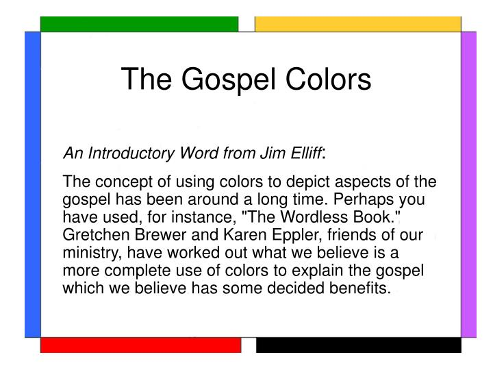 The gospel colors2