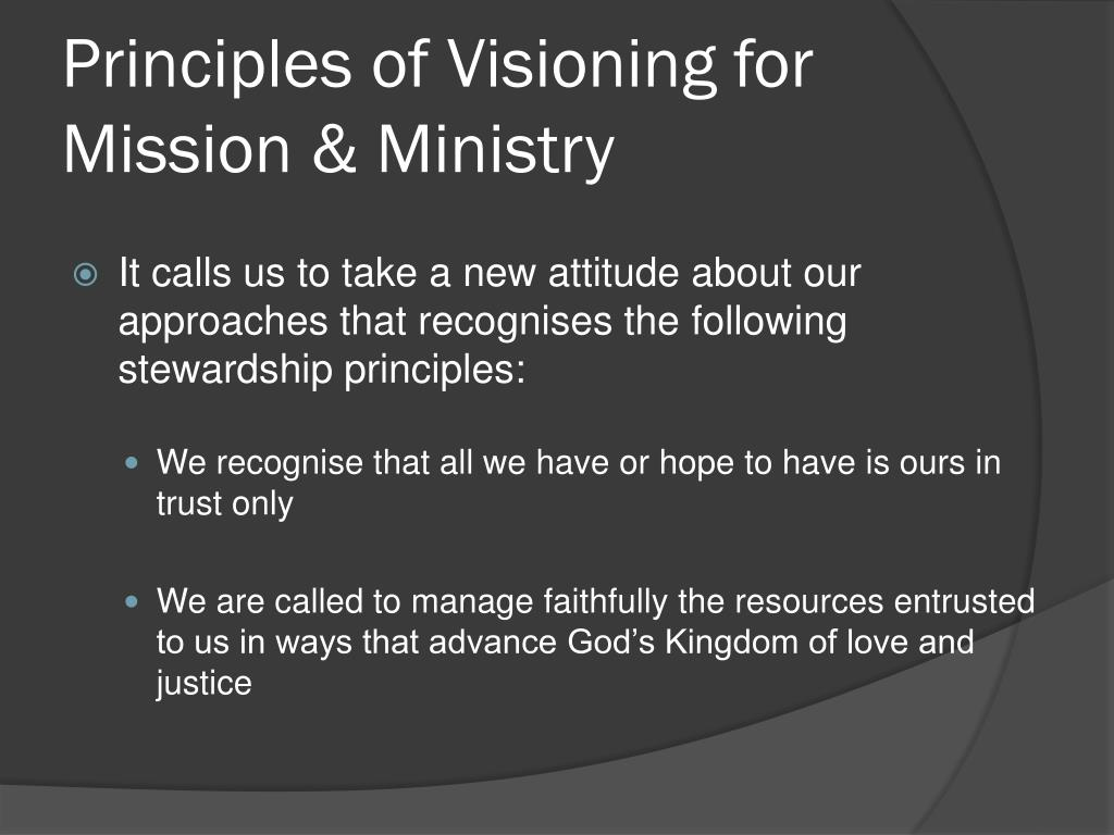 Principles of Visioning for Mission & Ministry