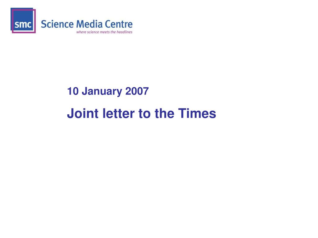 10 January 2007