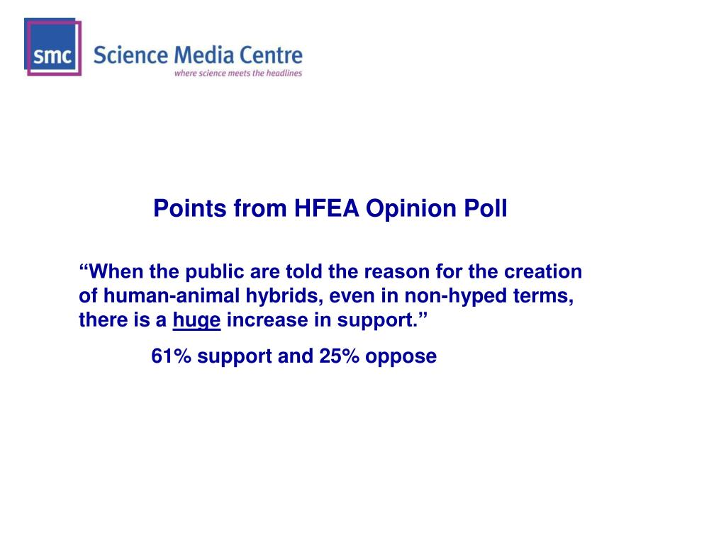 Points from HFEA Opinion Poll