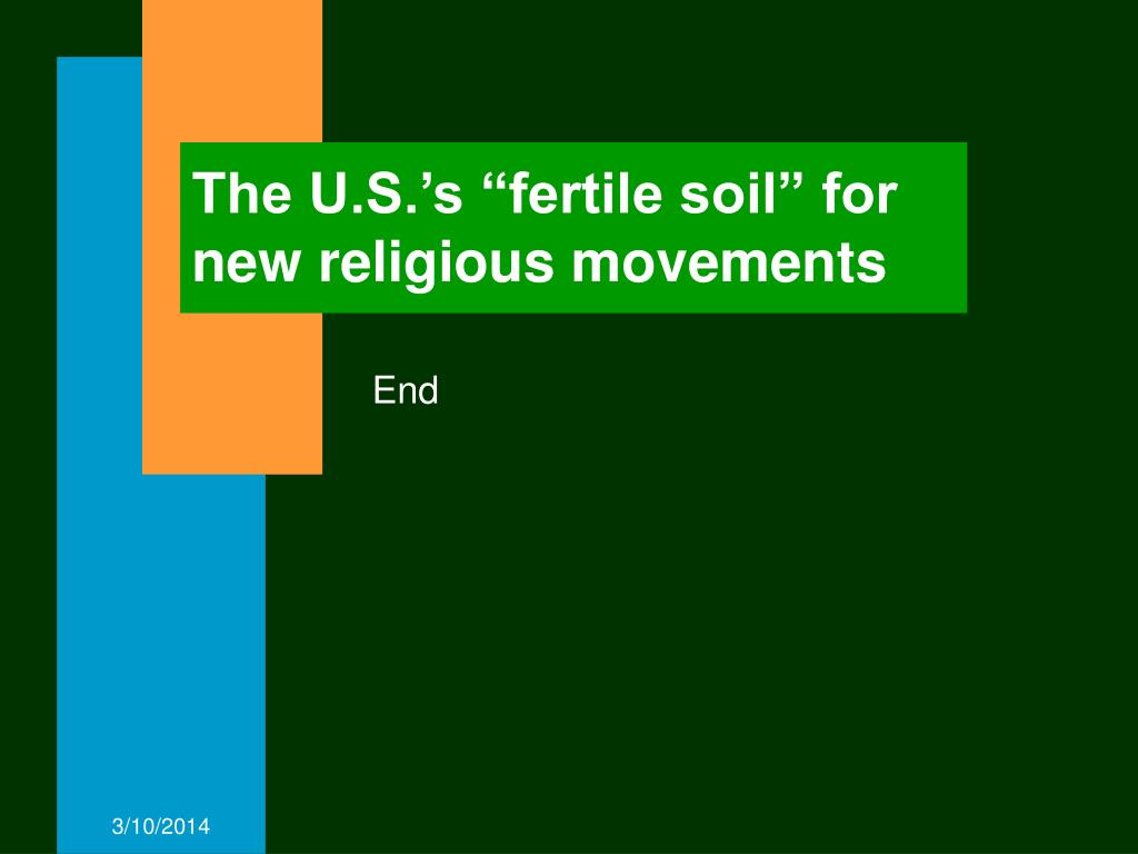 "The U.S.'s ""fertile soil"" for new religious movements"