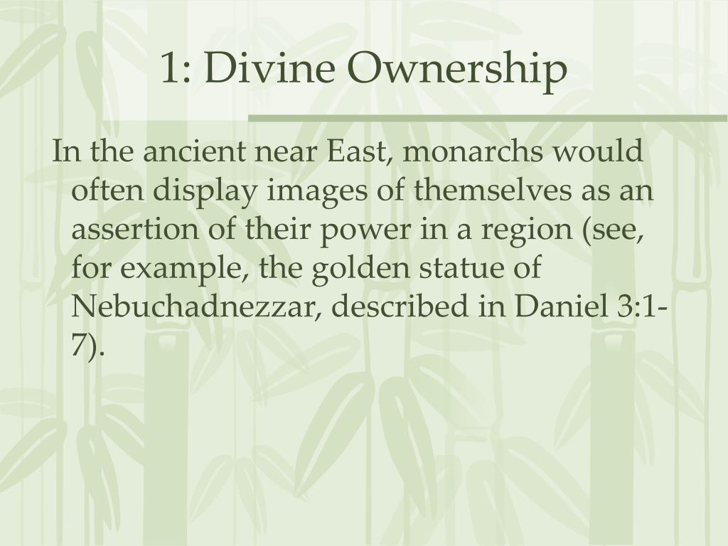 1: Divine Ownership