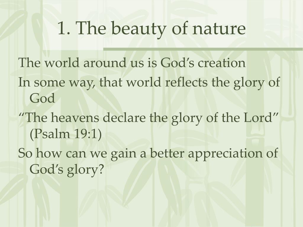 1. The beauty of nature