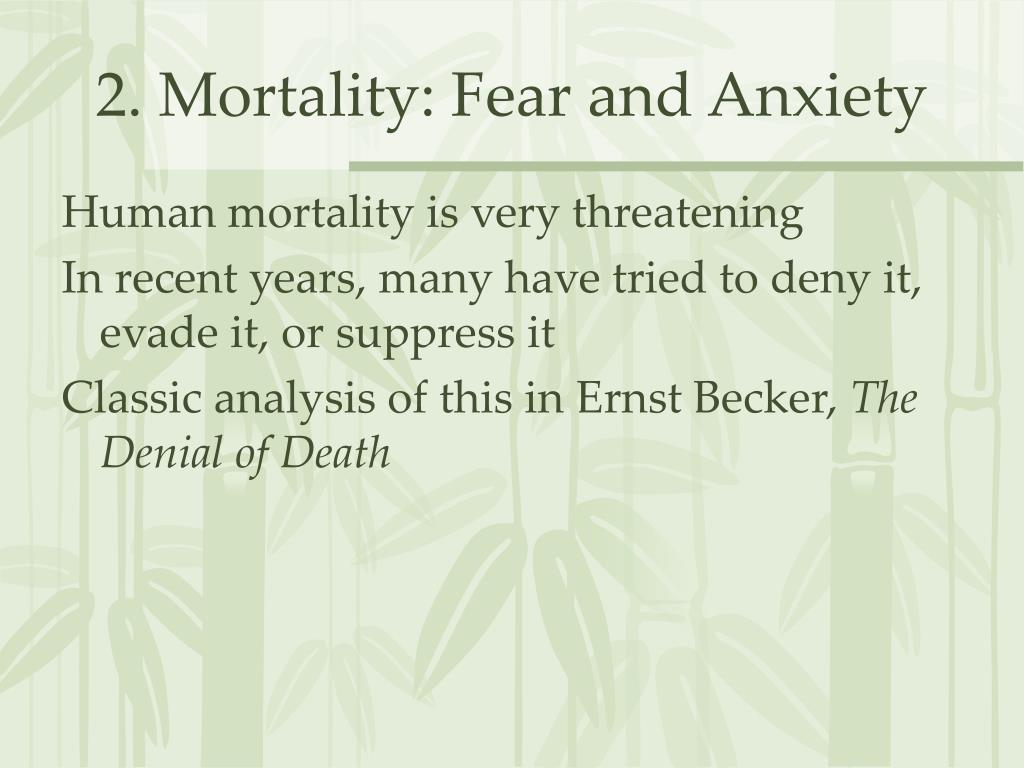 2. Mortality: Fear and Anxiety