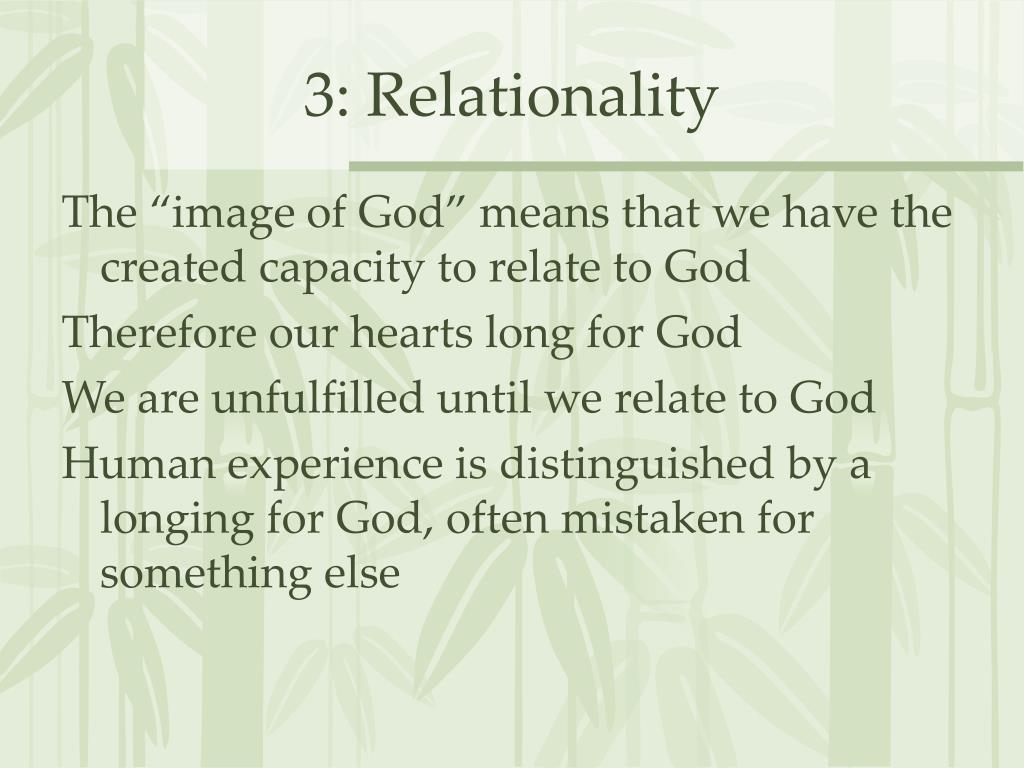 3: Relationality