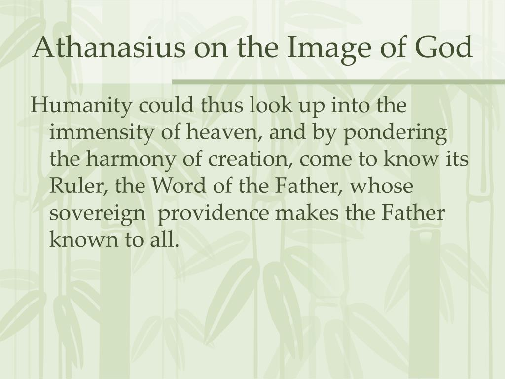 Athanasius on the Image of God