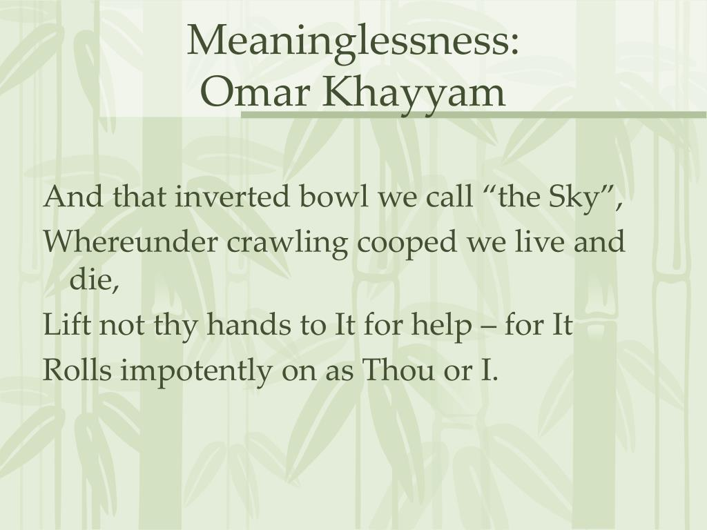 Meaninglessness:
