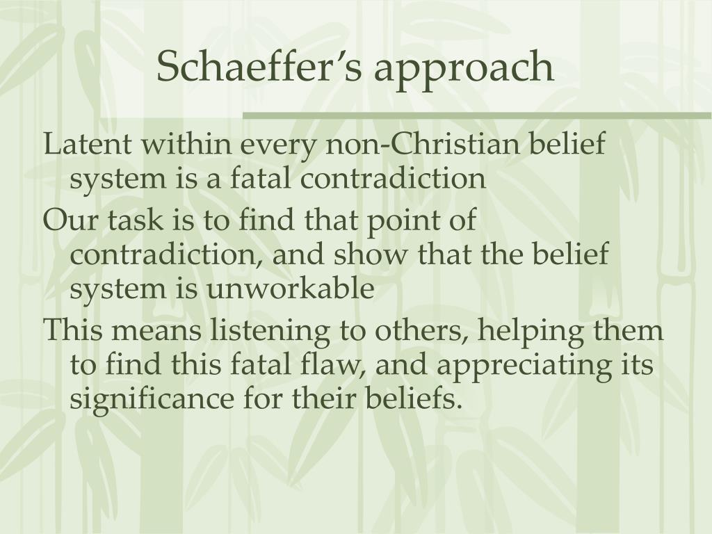 Schaeffer's approach