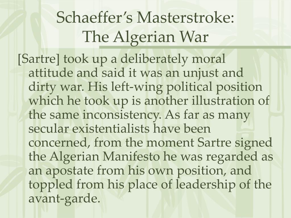 Schaeffer's Masterstroke: