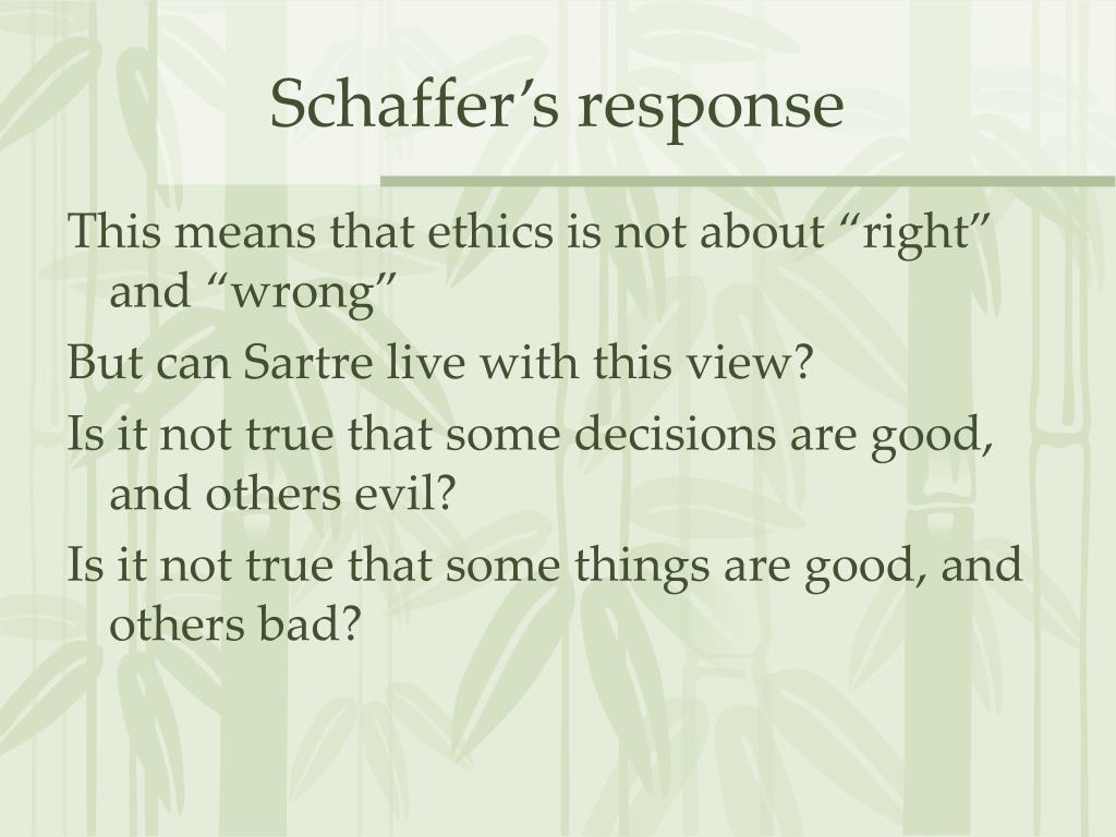 Schaffer's response