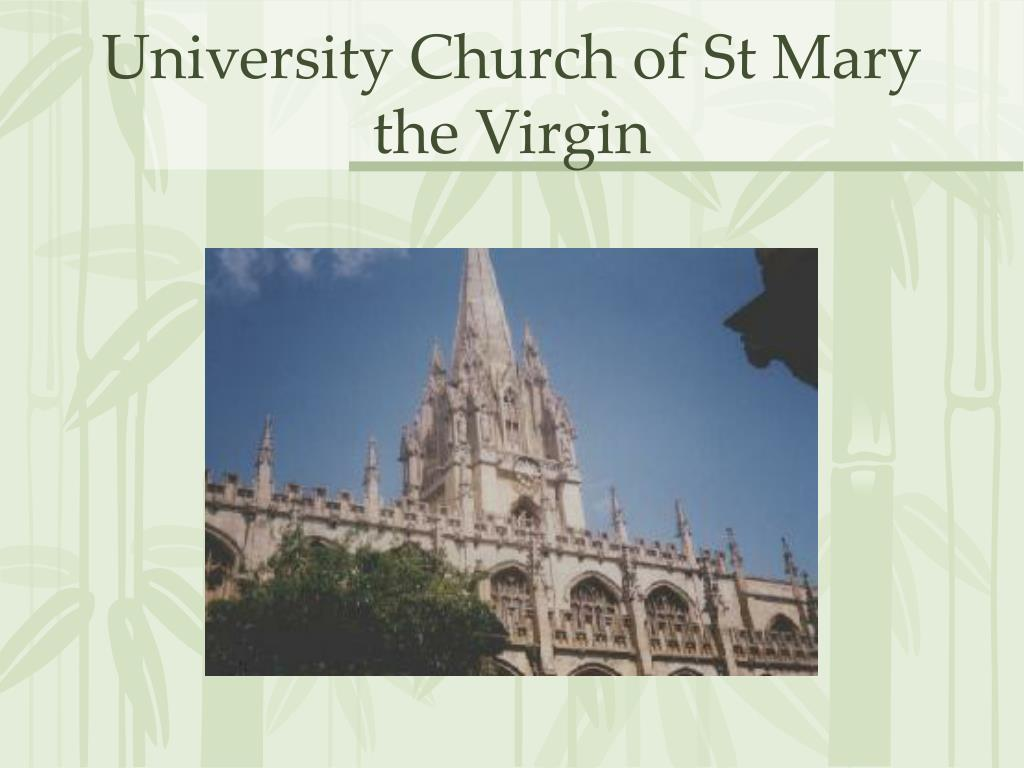 University Church of St Mary the Virgin