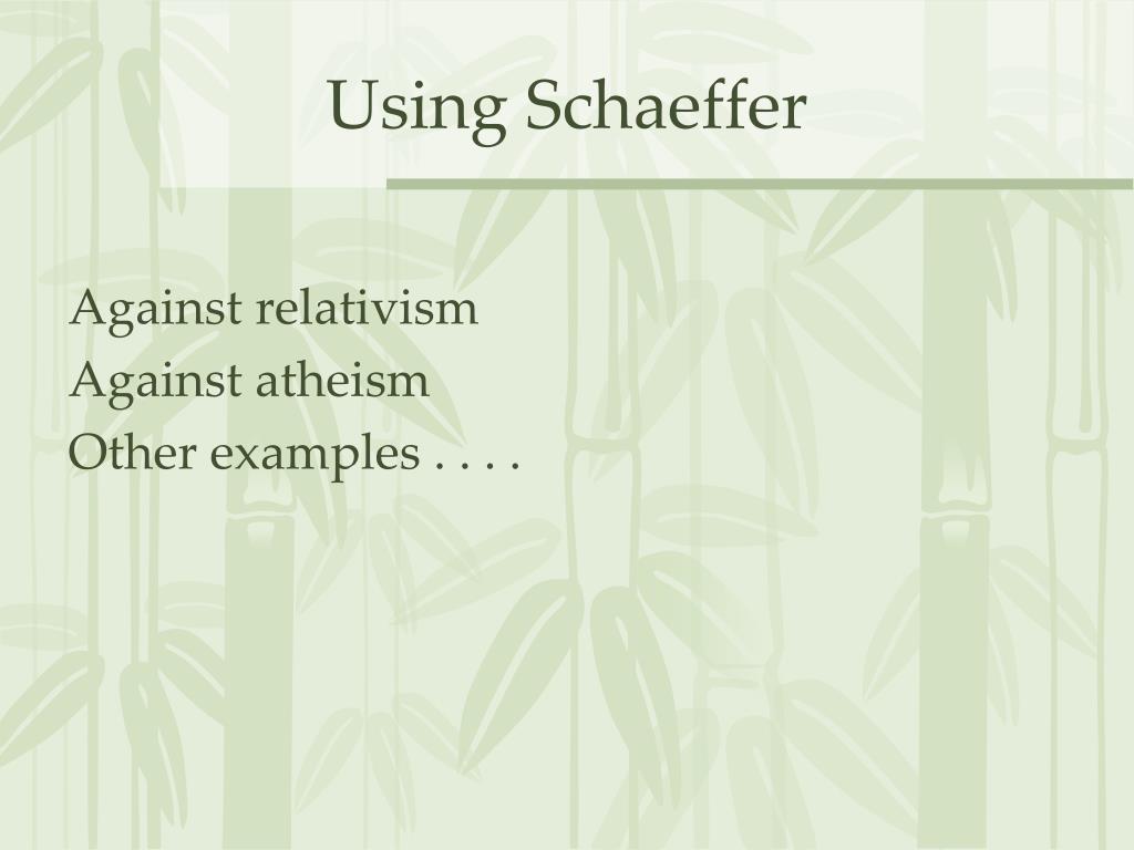 Using Schaeffer