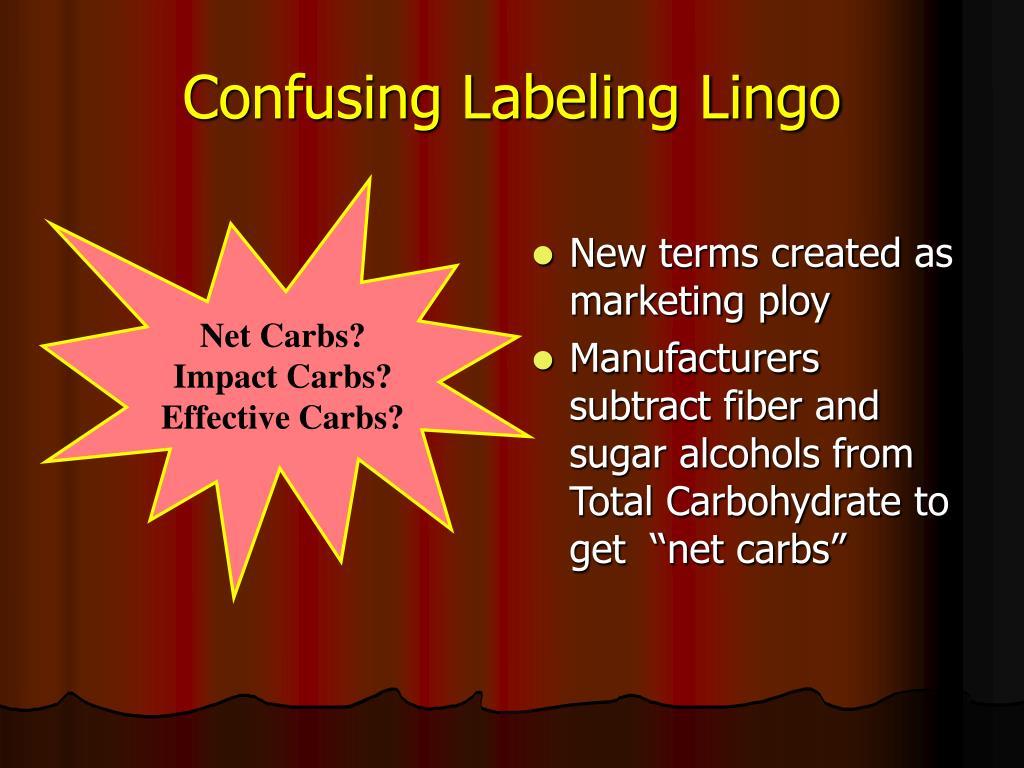 Confusing Labeling Lingo