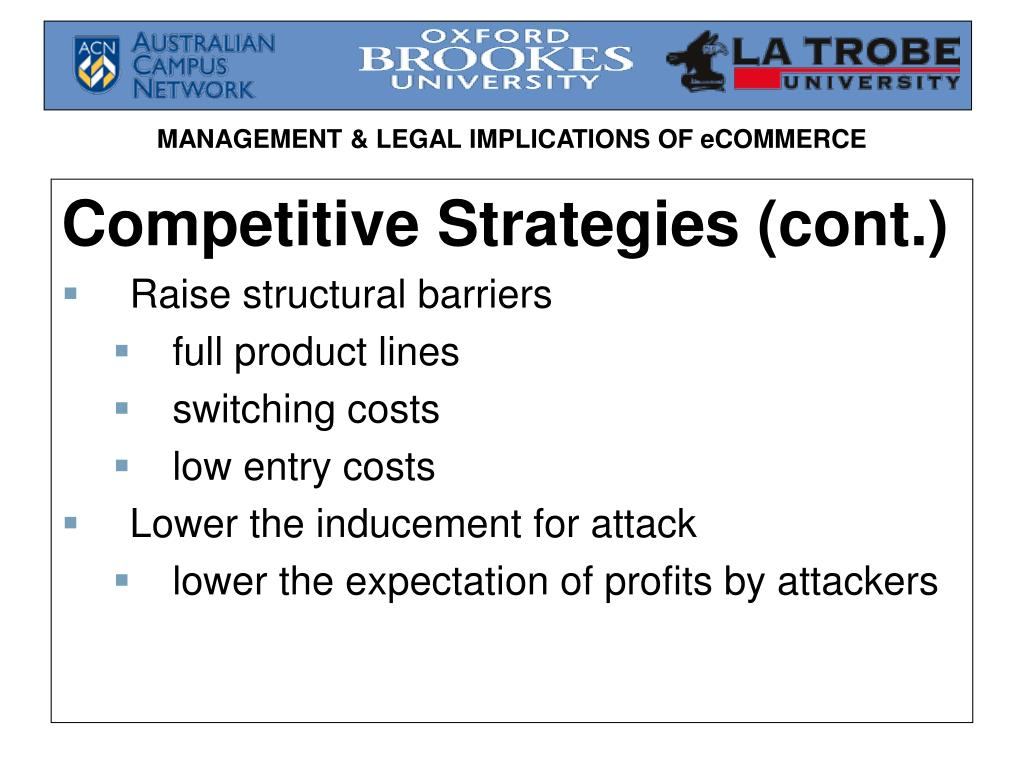 Competitive Strategies (cont.)