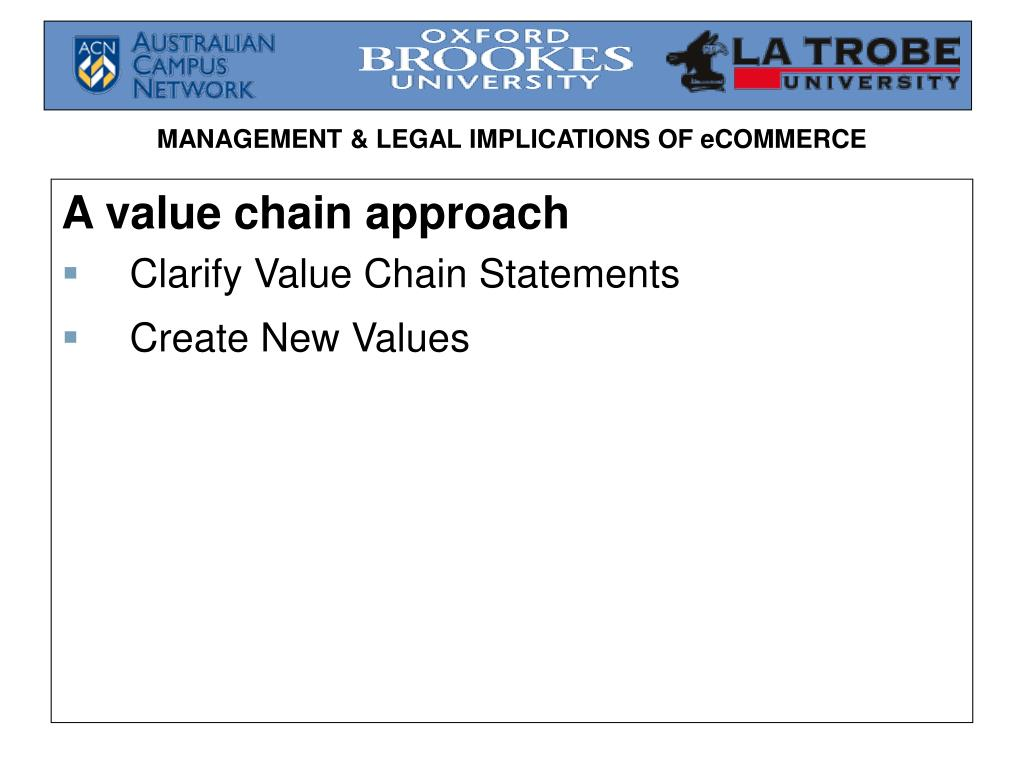 A value chain approach