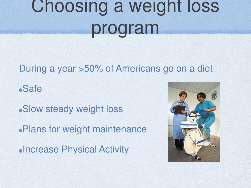 Choosing a weight loss program