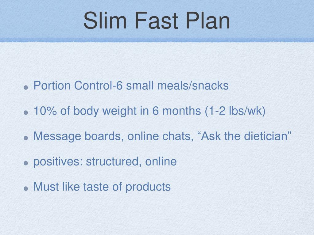 Slim Fast Plan