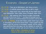 excerpts gospel of james25