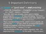 i important definitions