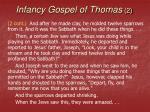 infancy gospel of thomas 2