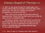 infancy gospel of thomas 4 8