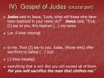 iv gospel of judas crucial part