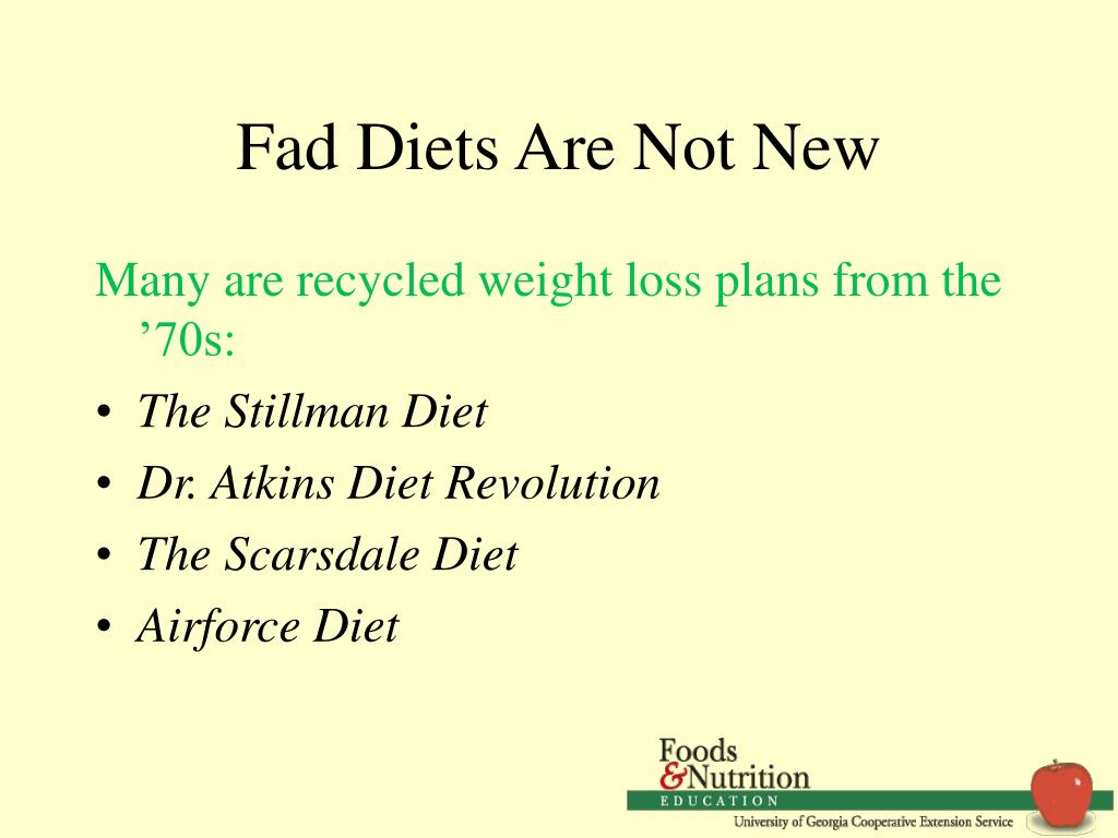 Fad Diets Are Not New