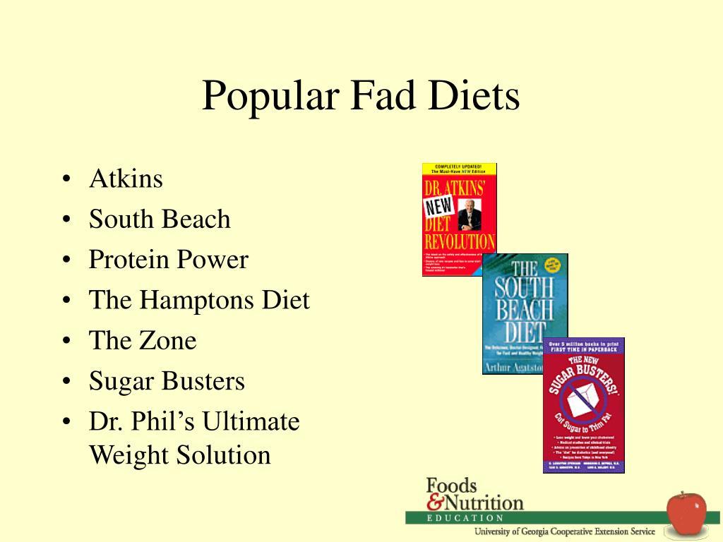 Popular Fad Diets