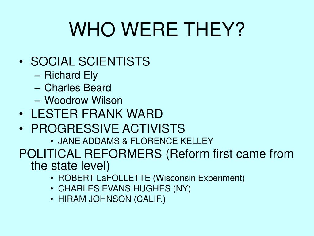 WHO WERE THEY?