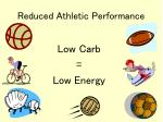 reduced athletic performance
