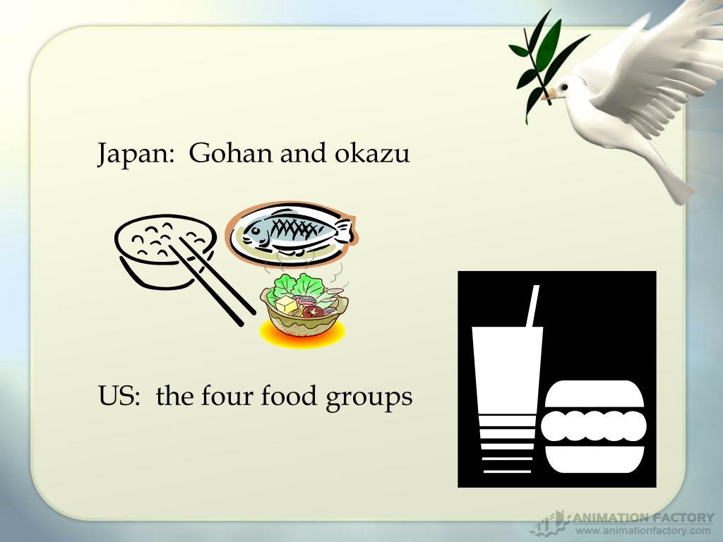 Japan:  Gohan and okazu