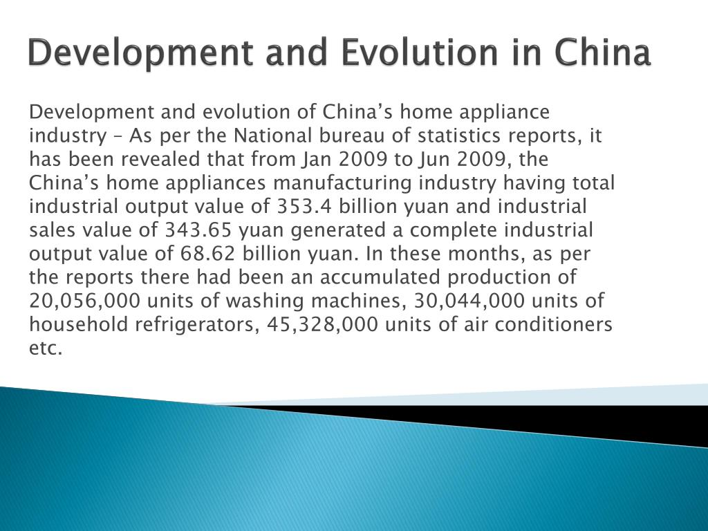 Development and Evolution in China