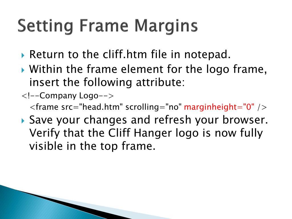 Setting Frame Margins