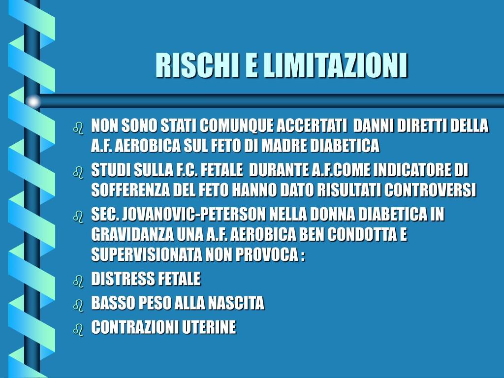 RISCHI E LIMITAZIONI