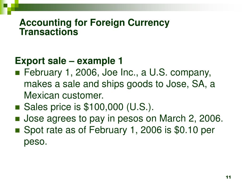 Accounting for Foreign Currency Transactions
